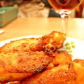 写真: サイゼリヤ ( 成増 )  辛味チキン + ランブルスコ セッコ