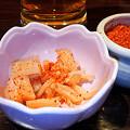 写真: 麺屋海神  ビール + お通し