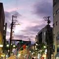 写真: 七夕祭りの夕暮れの一景