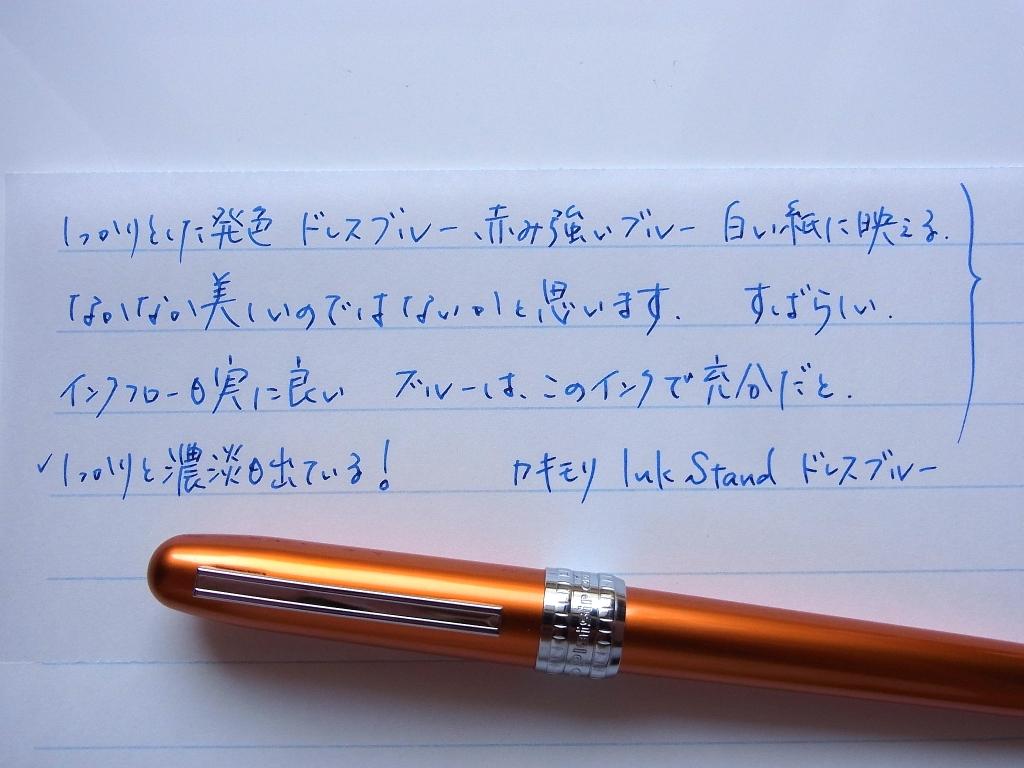 カキモリ 顔料インク ドレスブルー 榛原蛇腹便箋