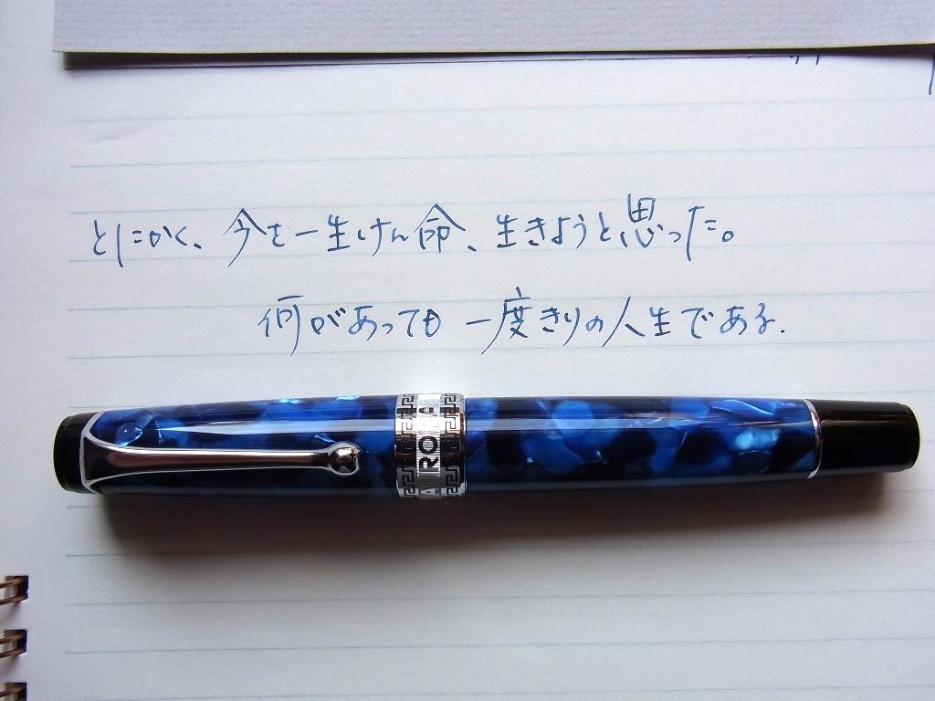 AURORA オプティマ ブルー 細字(スタブ) + PARKER BB + トモエリバー #4