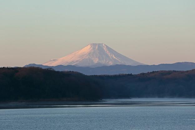 2018年元旦の富士山@狭山湖