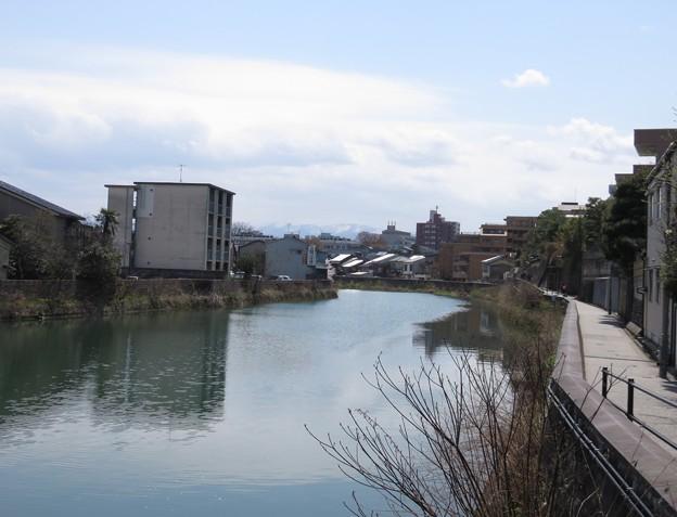 小橋から浅野川・上流へ