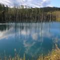 青い池です