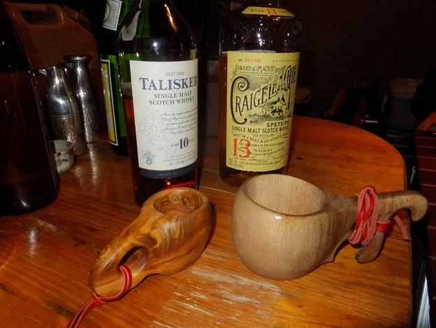 ウイスキーとククサ