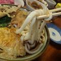 写真: 天ぷらうどん到着