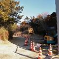 写真: 富幕山休憩舎工事中