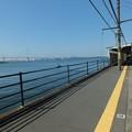 海芝浦駅から鶴見つばさ橋を望む
