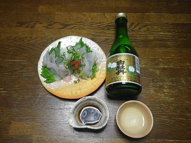RIMG3715東広島市、白牡丹上撰とコチの造り