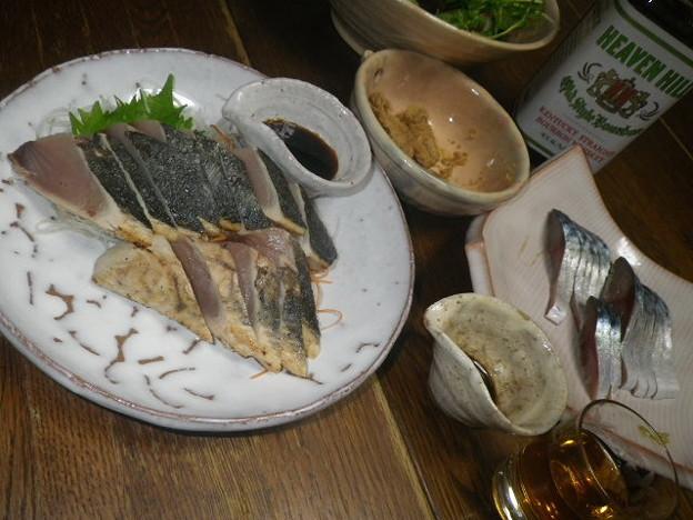 RIMG3795ヘブンヒル&しめさばカツオたたき魚子の煮付け