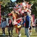 写真: 下長飯ジャンカン馬踊り