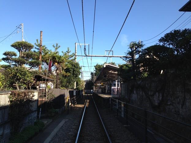 江ノ島電鉄 和田塚駅(無心庵前。鎌倉市由比ガ浜)