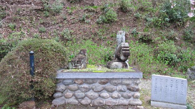 如意輪寺(吉野町吉野山)楠木公父子像