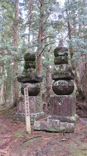 高野山金剛峯寺 奥の院(高野町)播磨姫路本多家墓所