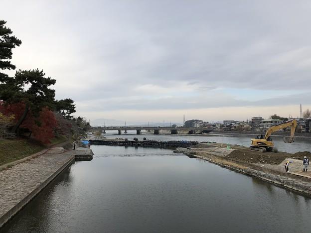 橘橋より(宇治市)宇治橋