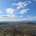 八幡山城(近江八幡市)西の丸より南西