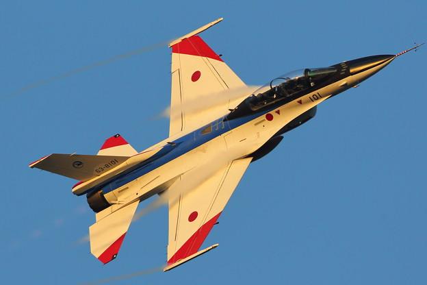 夕日にF-2