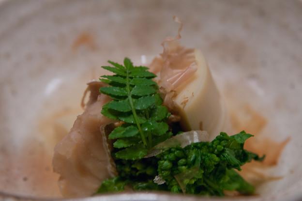 炊合せ:筍 めばる 菜の花 木の芽