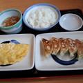 山田うどん 餃子定食&卵焼き♪
