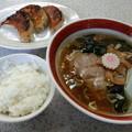 洋々亭 ラーメン餃子セット  (>_<)。