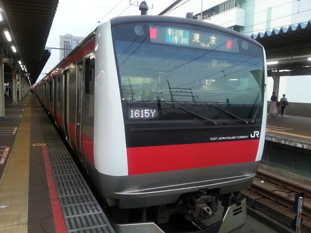 京葉線 東京行き 疲れたから 各駅で帰る (>_<)。