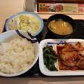 写真: 松屋 旨辛豚カルビ定食 ボテトサラダ ご飯大盛り