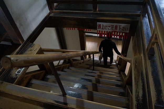 犬山城 帰りは急な階段