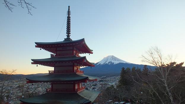 五重塔と富士