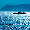 Photos: 碧く光る海へ