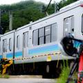 写真: 大糸線と愛車