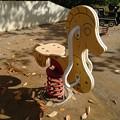 写真: 公園の秋 遊具
