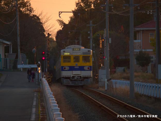 夕方のきくち電車。