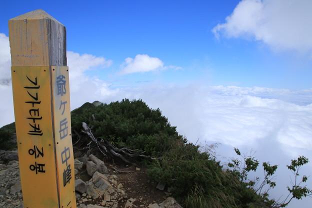 爺ヶ岳中峰ピーク