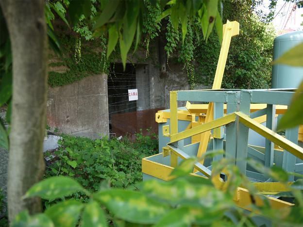 濃霞山山麓、佐伯重工業中のトンネル?