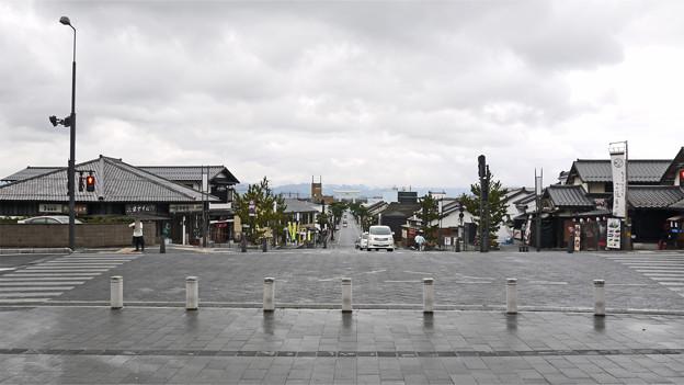 出雲大社(4)勢溜から門前町を見る