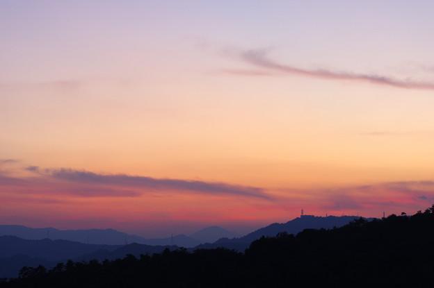 写真: 遠山夕景