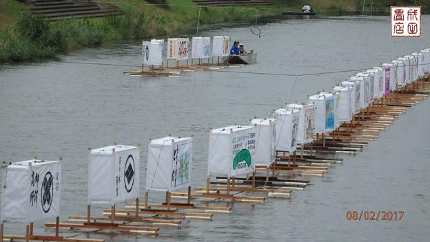 写真: 古利根川流灯まつりの準備08