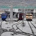 元旦の宇島駅の風景