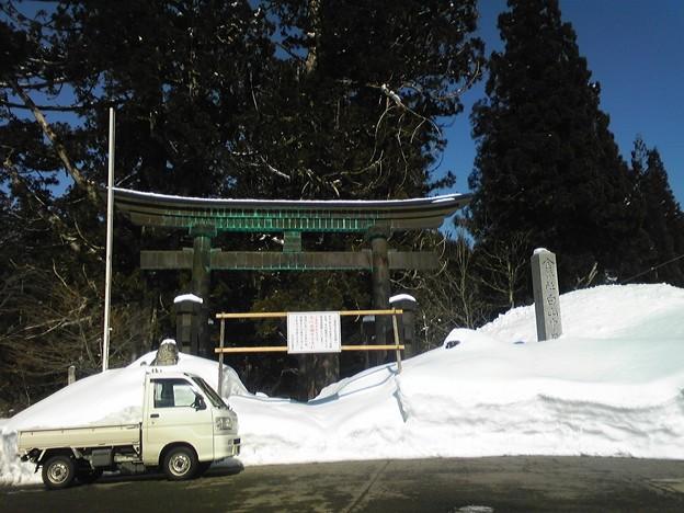 石徹白の白山中居神社へ参拝...