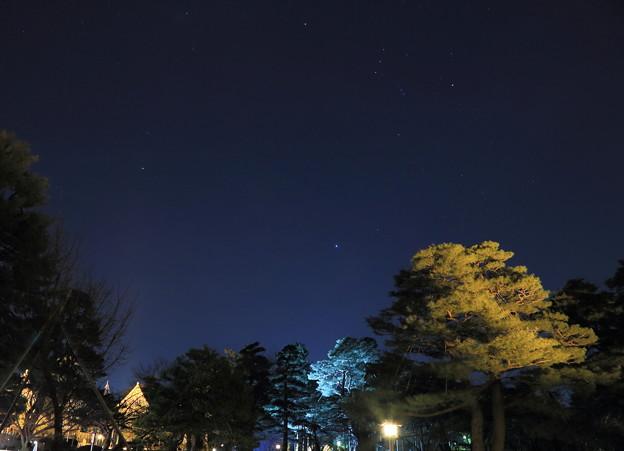 兼六園から 南東?の星空  オリオン座の三ツ星