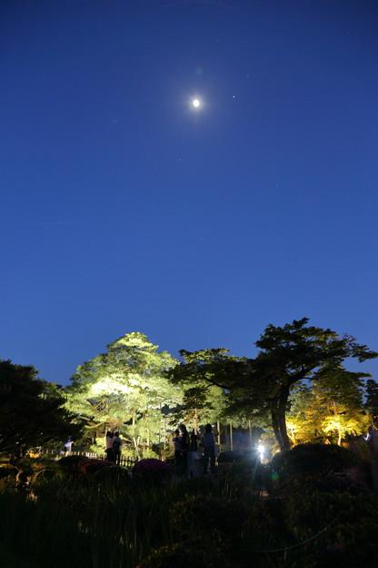 兼六園から 月と星