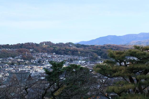 兼六園 眺望台から 卯辰山