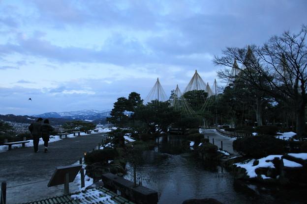 兼六園 曲水と眺望台