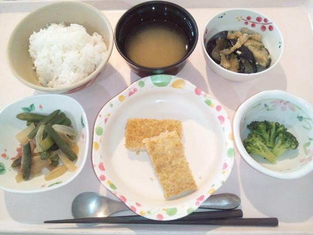 8月22日夕食(松風焼き) #病院食