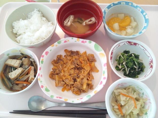 10月18日昼食(豚肉のカレー炒め) #病院食