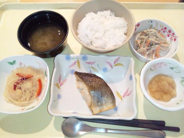 10月18日夕食(ホッケの塩焼き) #病院食