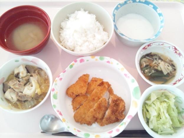 12月11日昼食(チキンカツ) #病院食