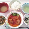 12月13日昼食(鶏肉のトマト煮込み) #病院食