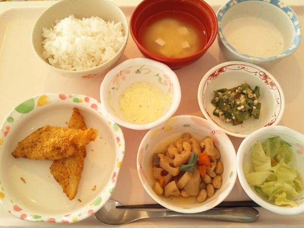 1月19日昼食(白身魚フライ) #病院食