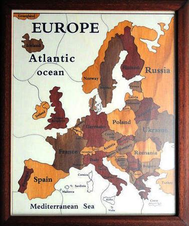 Mapa Evropa EN